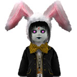 Living Dead Dolls Alice in Wonderland The white Rabbit